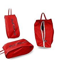 PLAYEAGLE 3 pcs/Set Waterproof PVC Protable Golf Shoes Bag Zipped Small Golf Bag Men Women