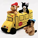 School Bus House with Finger Puppets 10'' by Unipak Designs