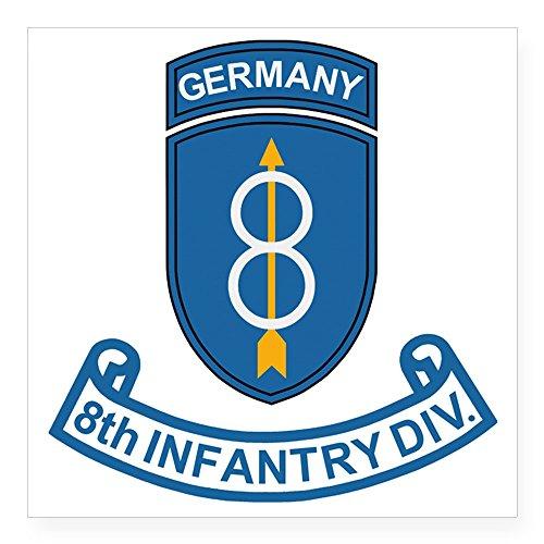 CafePress Army-8th-Infantry-Div-6-Bon Square Sticker 3