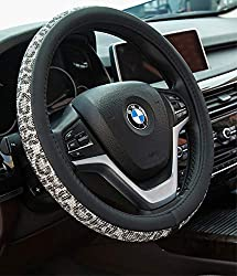 Leopard Bling Crystal Rhinestones Steering Wheel Cover