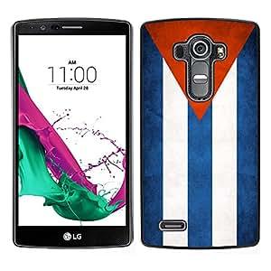 TopCaseStore / la caja del caucho duro de la cubierta de protección de la piel - Cuba Grunge Flag - LG G4