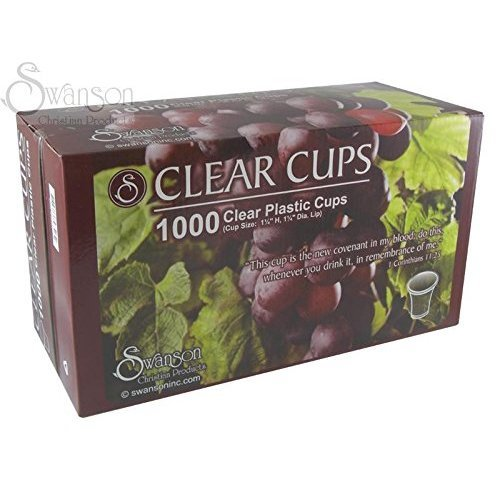 - Communion - Cup - Disposable (Clear) - 1-1/4