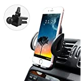 LUXEAR Universal Phone Car Air Vent Mount Holder Cradle with Adjustable Grips for iPhone 7 7 Plus 6S 6 Plus Samsung Galaxy S7 S6 S6 Edge S5 and more (Black)