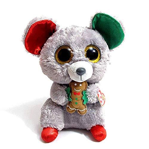 MANNEW Christmas Animated Stuffed Animal Kawaii Plush Stitch Stuffed Animal Snowman Gifts Babys First Doll Plush Soft (Rat) -