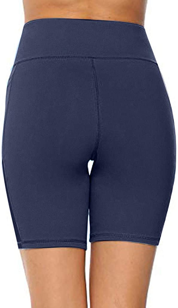 Shorts Glorxha High Waisted Gym Biker Workout for Women Side Pockets