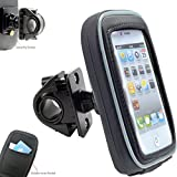 AccessoryBasics 360° Swivel Smartphone Bike Motorcycle Handlebar Mount w/Detachable Water Resistant 3D Touch Enable Case for iPhone X 8 7 6s Plus Galaxy S8 S9 Note (Fits pole/bar up to 1.35 inches)