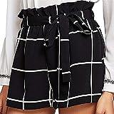 Fanteecy Women Casual Elastic Waist Striped Summer Shorts Teen Girl Cute Sports Beach Shorts Lounge Walking Shorts w/Pockets