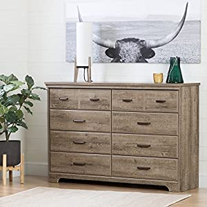 South Shore Versa 8-Drawer Double Dresser, Gray Maple