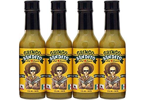 Gringo Bandito Hot Sauce, Green, 5 Ounce (Pack of -