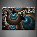 First Wall Art - Abstract Blue Brown Like Several Holes Wall Art Painting The Picture Print On Canvas Abstract Pictures For Home Decor Decoration Gift