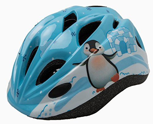 Penguin Multi-sport Kid Helmet Children Kid Child Toddler Outdoor Skate-boarding Cycling Helmet Safety Helmet Protective Gear Age 3-5 5-12 Boys Girls Adjustable Dial & Warning Tail Light (blue) (Kids Petal Cars)