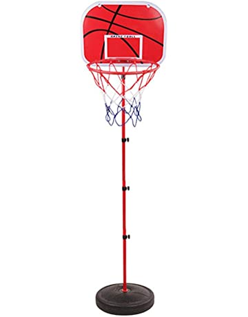 Adjustable Height Basketball Hoop with Stand for Indoors Outdoors Children Toy Birthday Gift 1.7m Xploit Portable Basketball Hoop Net System