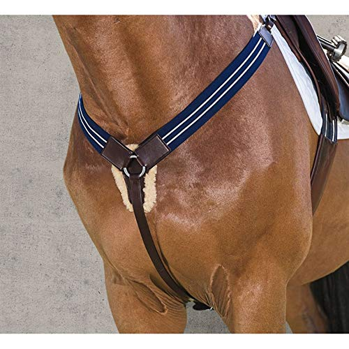 ovation Sheepskin Padded Elastic Breastplate Horse ()
