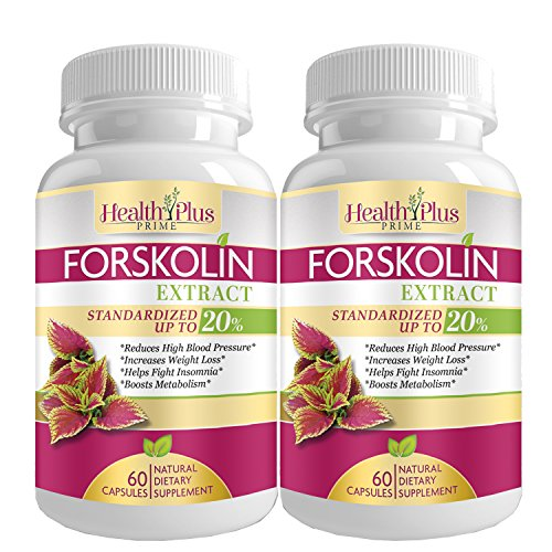 Forskolin Extract for Weight Loss Supplement 2 Pack, 60 Pills, Ultra Pure Live Active Coleus Forskohlii Powder, MD Research Verified Organic Natural Vegan Hunger Suppressant, USA Made