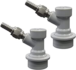 Beverage Factory Ball Lock Disconnect keg coupler, 5/16, Gray