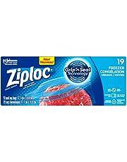 Ziploc Freezer Bags, Medium, 19 Count
