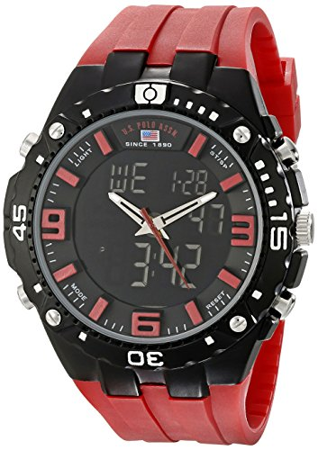 U.S. Polo Assn. Sport Men's US9173 Sport (Dial Flag Bezel)