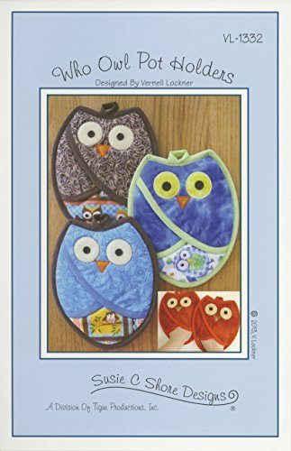 Susie C Shore Designs Who Owl Pot Holders Pattern
