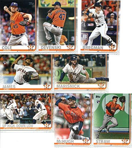 2019 Topps Series 2 Baseball Houston Astros Team Set of 17 Cards: Max Stassi(#363), Framber Valdez(#376), Ryan Pressly(#386), Cionel Perez(#392), Lance McCullers Jr.(#397), Tony Kemp(#401), Roberto Osuna(#434), George Springer(#447), Josh Reddick(#531), Jake Marisnick(#544), Tyler White(#545), Gerrit Cole(#572), Josh James(#584), Chris Devenski(#598), Myles Straw(#629), Collin McHugh(#674), Alex Bregman(#700)