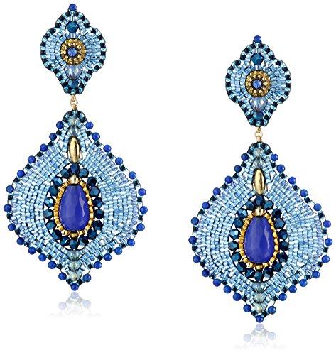 Jade Lapis Earrings (Miguel Ases Lapis and Jade Lotus Earrings)