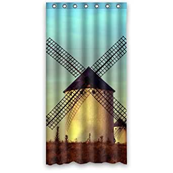 36 w x 72 h windmill sunset good choice shower curtain 100 polyester clothing. Black Bedroom Furniture Sets. Home Design Ideas