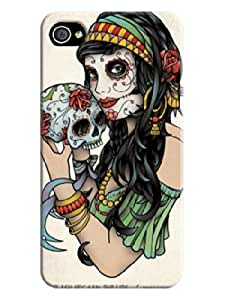 LarryToliver Beautiful Skull Background image logo perfect Protector Cases for iphone 4/4s Cases #3