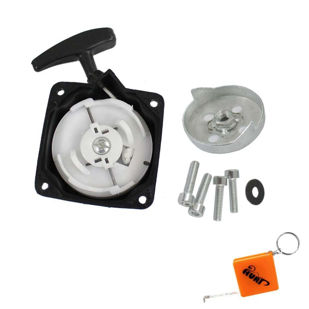 HURI Recoil Pull Start Starter with Starter Claw Screw for Pocket Bike X1 X2 X8 XTreme 43cc 49cc GSMOON G Scooter