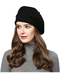 e89a23eef80 French Style Beret Hats for Women Wool Knit Stretchable Artist Hats