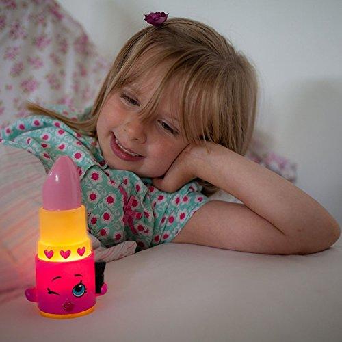 Shopkins Illumi-mate Lippy Lips Colour Changing Light, Plastic, Pink