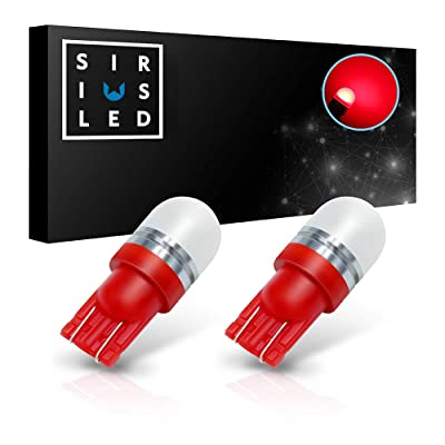 SIRIUSLED Super Bright 1W 360 Degree Projector LED Bulbs for Interior Car Lights Gauge Instrument Panel Dome Map Side Marker Door Courtesy License Plate T10 168 192 194 2825 W5W Red: Automotive