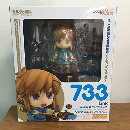 Aquaman Store Action & Toy Figures - Good Smile The Legend of Zelda Breath of The Wild Link 733 733-DX (Deluxe Version) Nendoroid with Box 1 PCs