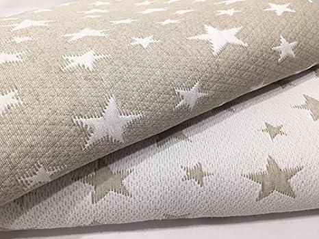 Colcha Cubrecama ESTRELLITAS de Jacquard Estrellas en Color Gris o Beig (Todas las medidas) (Beige, 180x260 (cama 90 cm))