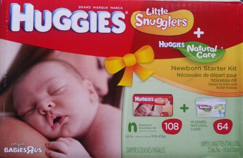 Amazon.com: Huggies Little Snugglers + Huggies Natural Care Wipes NB ...