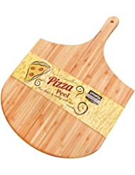 Utopia Kitchen Bamboo Wood Pizza Peel - Paddle for Homemade Pizza and Bread Baking - Great for Cheese Board, Platter, Pizza Swooping, Wide Handle
