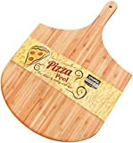 : Bamboo Wood Pizza Peel - Paddle for Homemade Pizza and Bread Baking - Great for Cheese Board, Platter, Pizza Swooping, Wide Handle - By Utopia Kitchen