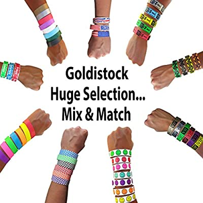 """Goldistock Select Series with Box - Tyvek Wristbands 500 Count - 3/4"""" Premium Tyvek - Event Identification Bands (Paper - Like Texture)"""
