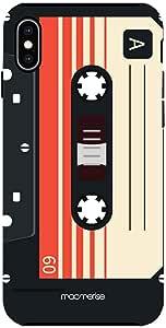 Macmerise IPCIXMTMI0328 Casette Black - Tough Case for iPhone XS Max - Multicolor (Pack of1)