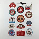 Waterproof Removable Car Sticker World Traveller Vintage Travel Stickers for Suitcases Trolley Luggage Laptop Guitar PVC Sticker