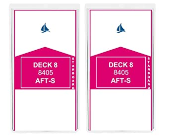 8 Pack Wide Luggage Tag for PRINCESS, CARNIVAL, HOLLAND AMERICA, COSTA