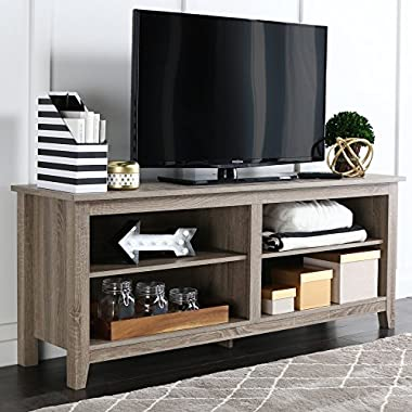 New 58  Modern Tv Console Stand – Driftwood Finish