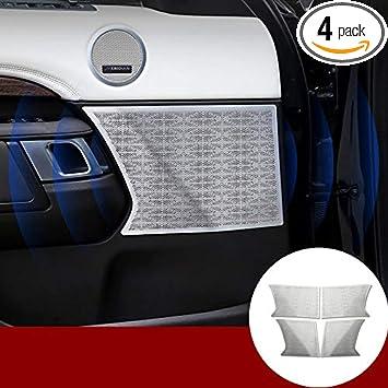 HOTRIMWORLD Interior Car Door Speaker Frame Trim Cover 4pcs