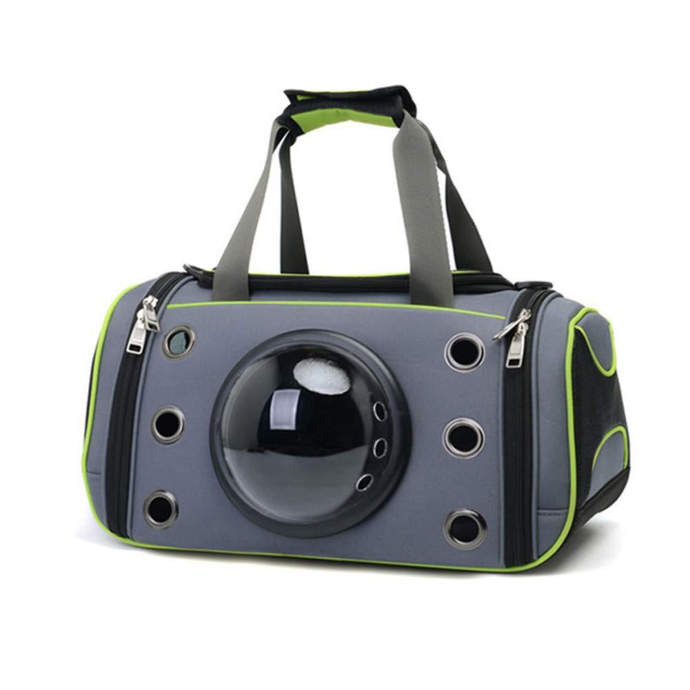 B L B L MdtgrSrltfh Portable bubble Pet carrier,Travel transparent breathable waterproof space capsule mesh transport handbag for cat dog puppy-B L