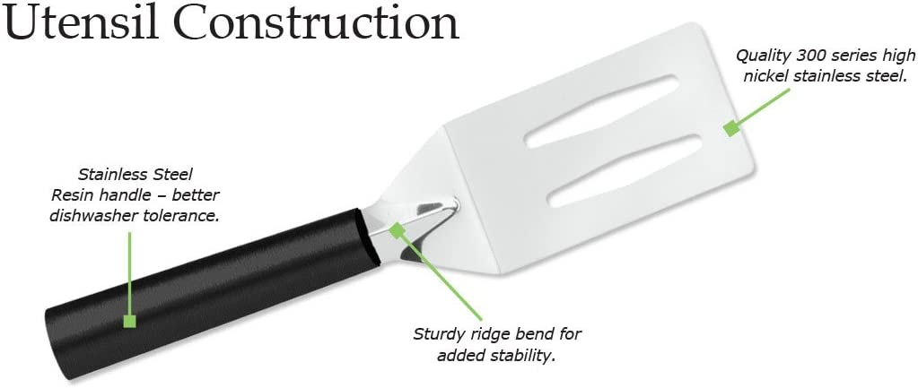 Stainless Steel Spatula With Brushed Aluminum Handle Made in USA Rada Cutlery Cooking Spatula