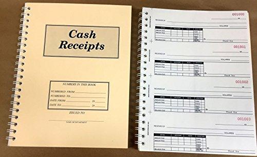 Ennis Receipt Book 2-Part Carbonless 2.75 x 7.5 inch Detached Spiral Bound 200 Sets per Book by Ennis (Image #1)