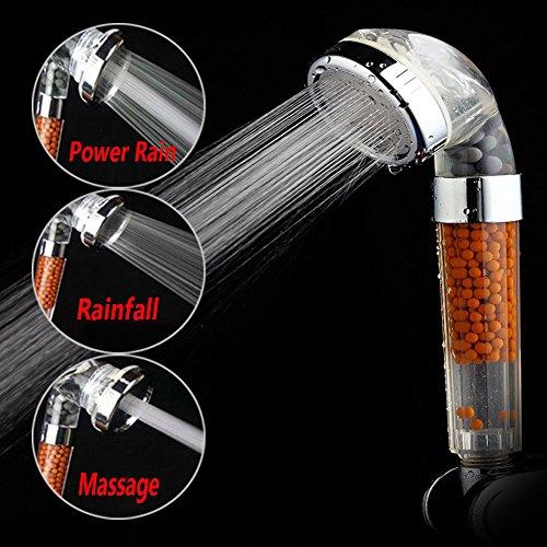 US Stock Filter Shower Head High-Pressure Water Saving Massage Rain Spray Shower