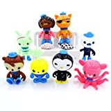 Astra Gourmet Set of 8 Octonauts Octo Glow Crew Pack Cake Toppers Cupcake Decorations Party favors