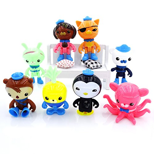 Astra Gourmet Set of 8 Octonauts Octo Glow Crew Pack Cake Toppers Cupcake Decorations Party favors -