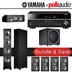 Polk audio tsi 500 7 1 ch home theater speaker for Yamaha 7 2 home theatre system