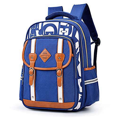 Kid Book Bag - Boys Backpacks, Bageek Boys School Backpack Kids Backpacks for School Boys Bookbags Kids Book Bags (Blue 1)