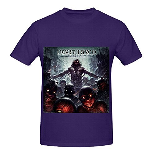 Disturbed The Lost Children Men O Neck Big Tall Tee Shirts Purple